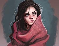 winter woman illustration