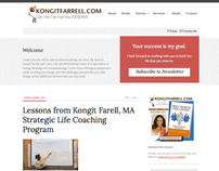 Kongit Farrell, MA WordPress Website
