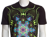 Aquatic UV D71 - Psychedelic T-Shirt