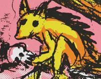 Screen print: Doomsday Squirrel