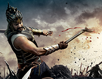 Bahubali Prabhas Solo fight poster with Marching Ants