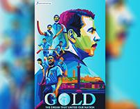 Gold movie wpap art poster