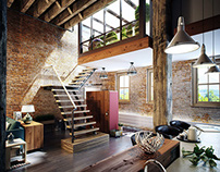 Loft House Design Visualization