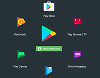 Google Play New Icons : Vector Freebie