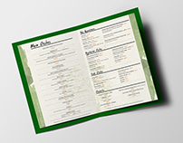 "Menu Design | ""HyeLandz"" Eco village resort"