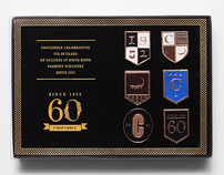 Crocodile 60th Anniversary Pin Set