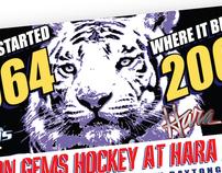 Promotional materials for Dayton Gems IHL Hockey, 2009