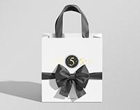 Shopping Gift Bag Mockup with Ribbon and Bow
