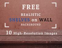 Freebie 10 Realistic Shelves on Wall Backgrounds Set 01