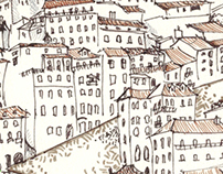 Portugal sketches: cityview