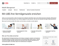 New structure UBS Wealth Management Website Germany