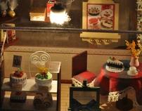 Blissful corner mini diorama