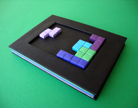 Tetris Handmade Notebook