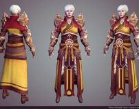 Female Monk from Diablo III, Game Model
