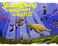 Diving School info desk poster