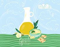 Illustration for food packaging