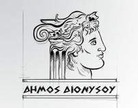 dimos dionysou logo design