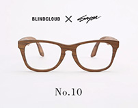 BLINDCLOUD X SAYON - Wooden sunglasses.