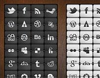 Web Icons - Flip Clock Social Icons