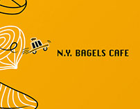 N.Y. BAGELS CAFE|Menu Design