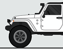 WIP // Jeep Illustrations