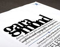 Specimen Sheet - Adobe Garamond
