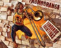 "Illustration, Design, logo ""Tumbando Fronteras"""