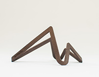Premium 3d printing steel minimalistic smartphone stand
