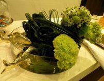 SCB visual merchandising- Floral Greenery Display