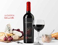 La Quercia Label Wine Bottle