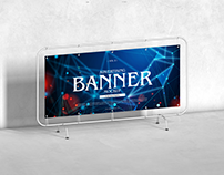 Free Advertising Banner Mockup For Branding Vol 2