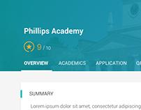 School Overview UI Design