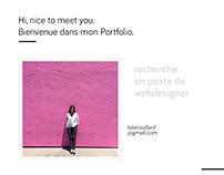 Lola Rouillard - Recherche un poste de webdesigner
