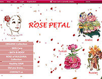 E-commerce Website Design - Rose Petal EU