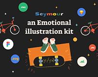 Saymour – an Emotional illustration kit