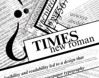 Typographic Poster- Times New Roman