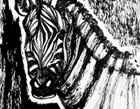 Chinese Ink Painting 01 - Zebra