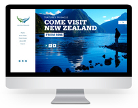 Air New Zealand website re-design (student brief)