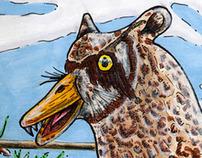 Duccoon Owl - Weird Animal