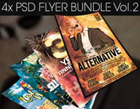 Party Flyer Bundle Vol.2 -Psd