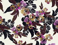 repeated illustrated floral pattern