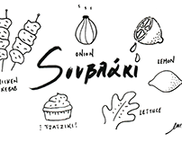 Souvlaki, Illustrated