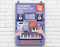 Music Production Digital Illustration