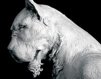 Maquette Sculpture - the Leopard King