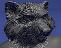 Anthropomorphic Raccoon Sculpt