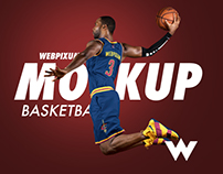 NBA Basketball Mockup Templates - FREE PSD Download
