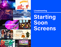 Livestreaming Starting Soon Screens