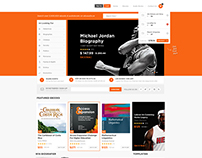 eBook & Audio Book Store Web Design