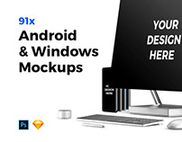 91x Android & Windows Mockups