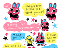 Affirmations Bunny Comic